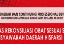 Kupas Tuntas Rekonsiliasi Obat dan Berdonasi dalam MUSDA HISFARSI PD IAI DIY 2018